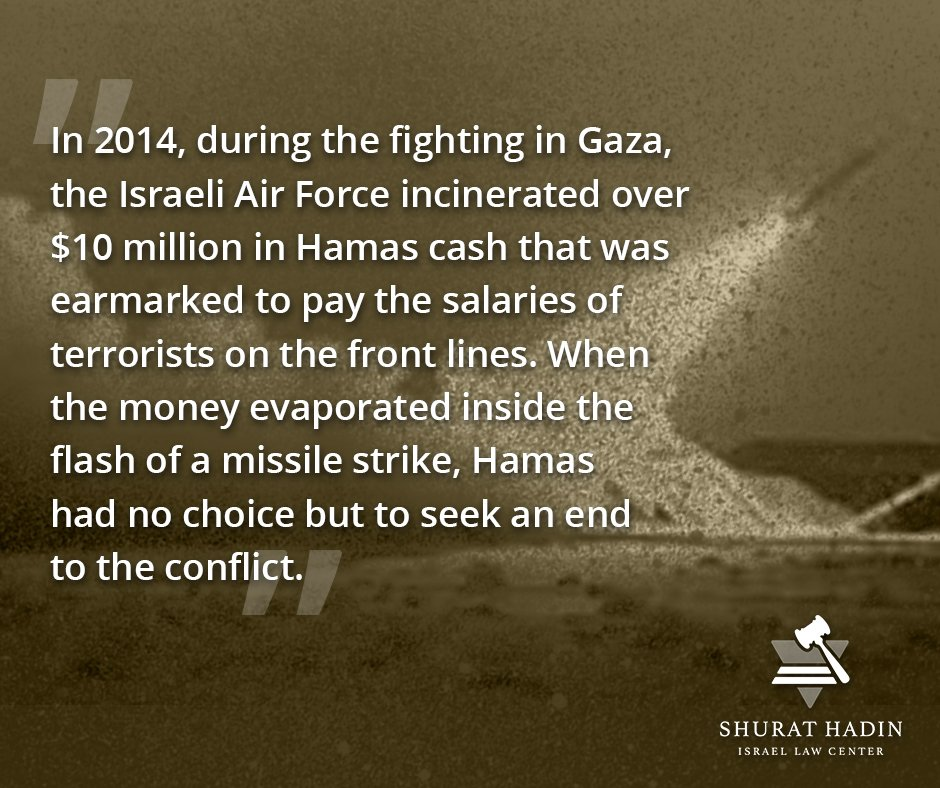 If you stop the flow of money, you can stop the flow of #terror. Amazing anecdote from #Israel&#39;s war with #Hamas in 2014<br>http://pic.twitter.com/cOqPYUMYdM