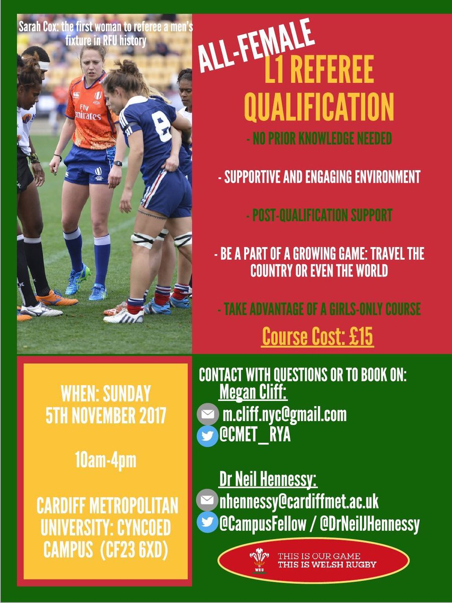 LADIES! Gain insight &amp; a qualification in the sport of our nation. Develop a growing game! NO experience needed. Come do it with us! #REF  <br>http://pic.twitter.com/cO6W4hAjXT