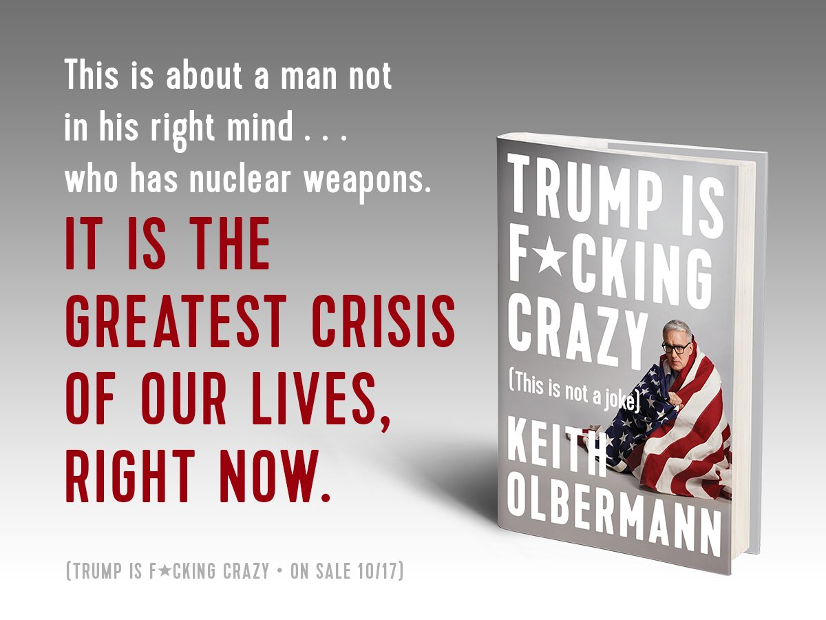 Accusing FBI of making a deal with Russia...to make the idea HE made a deal with Russia seem ludicrous.   Thanks for endorsing my book, guy