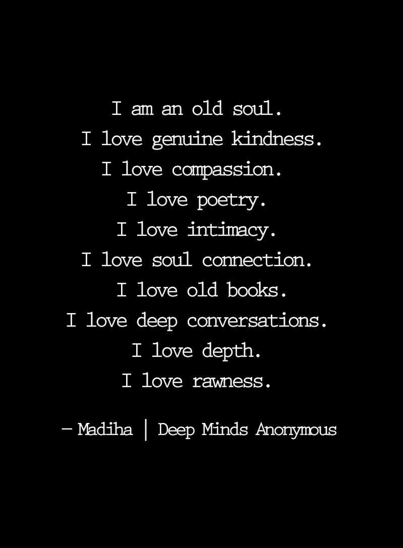 loving an old soul