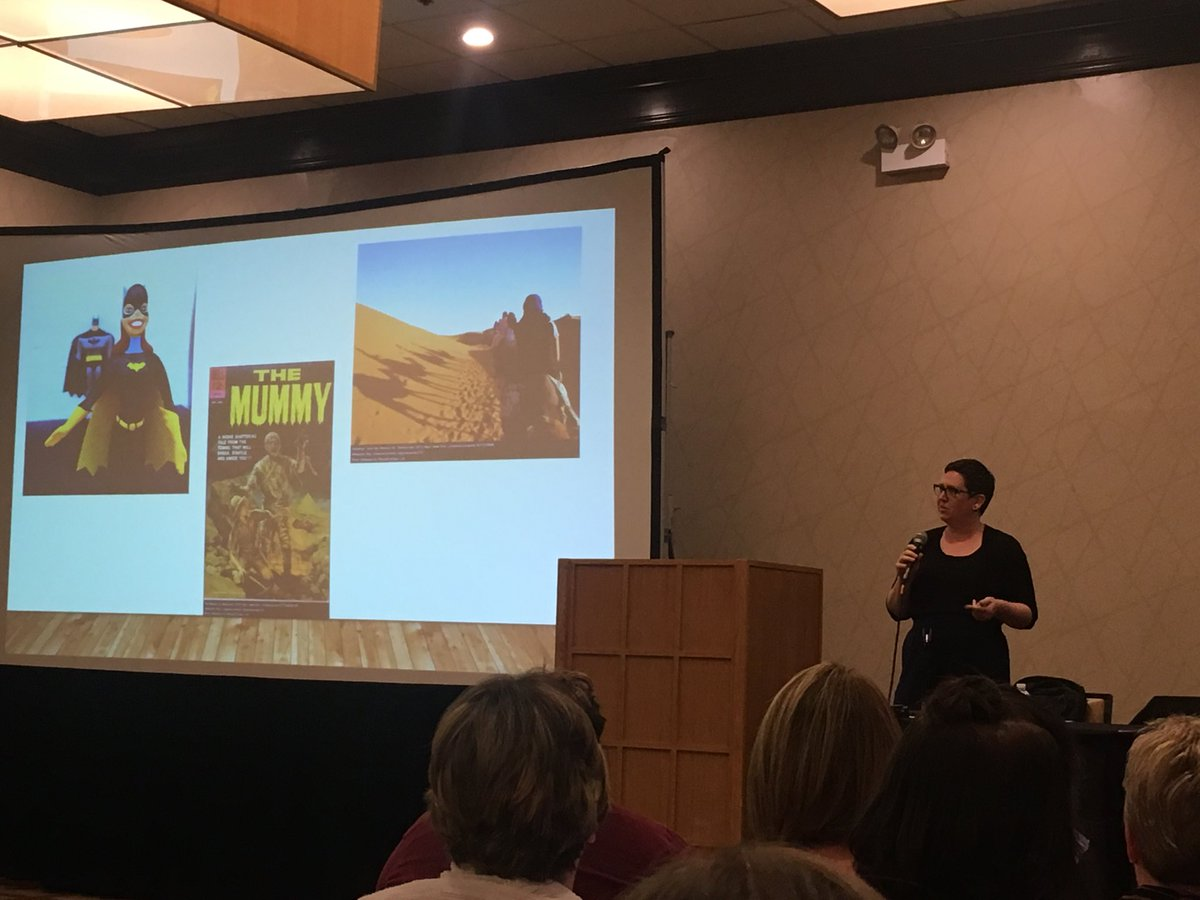 Dropping knowledge bombs left and right #librarians #oelma17 @actinginthelib &quot;They always inspire others to find all kinds of knowledge!&quot;<br>http://pic.twitter.com/4lzh50kX8O