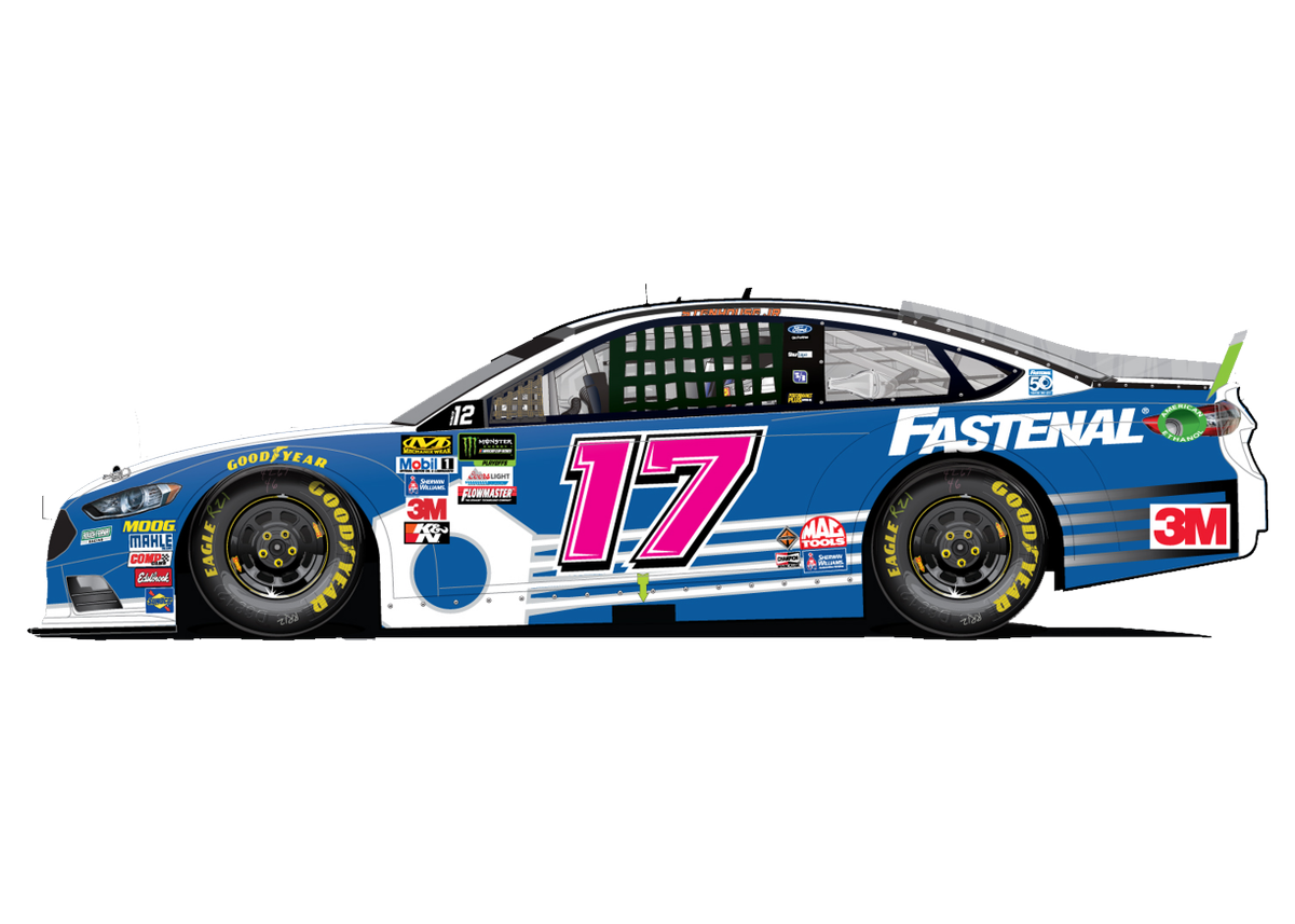 New look for @StenhouseJr this weekend at @kansasspeedway. #DrivenForACause