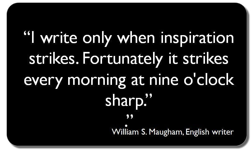 Don&#39;t wait for inspiration.  Start writing and then get inspired. #ECRchat #EMCRforum #postdoc<br>http://pic.twitter.com/XHRipnQSyL