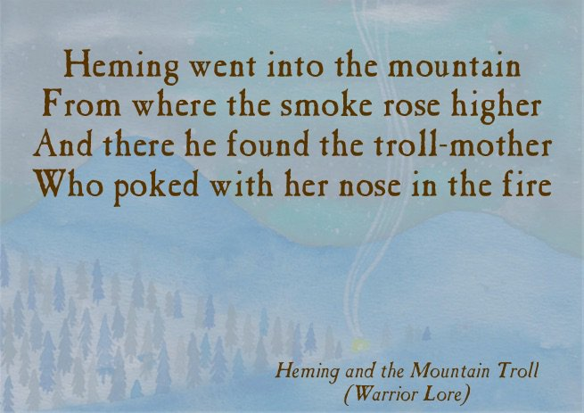 One of my favourite ballad lines ... #folklorethursday #fire #troll #nose<br>http://pic.twitter.com/ofRlhwf0d0