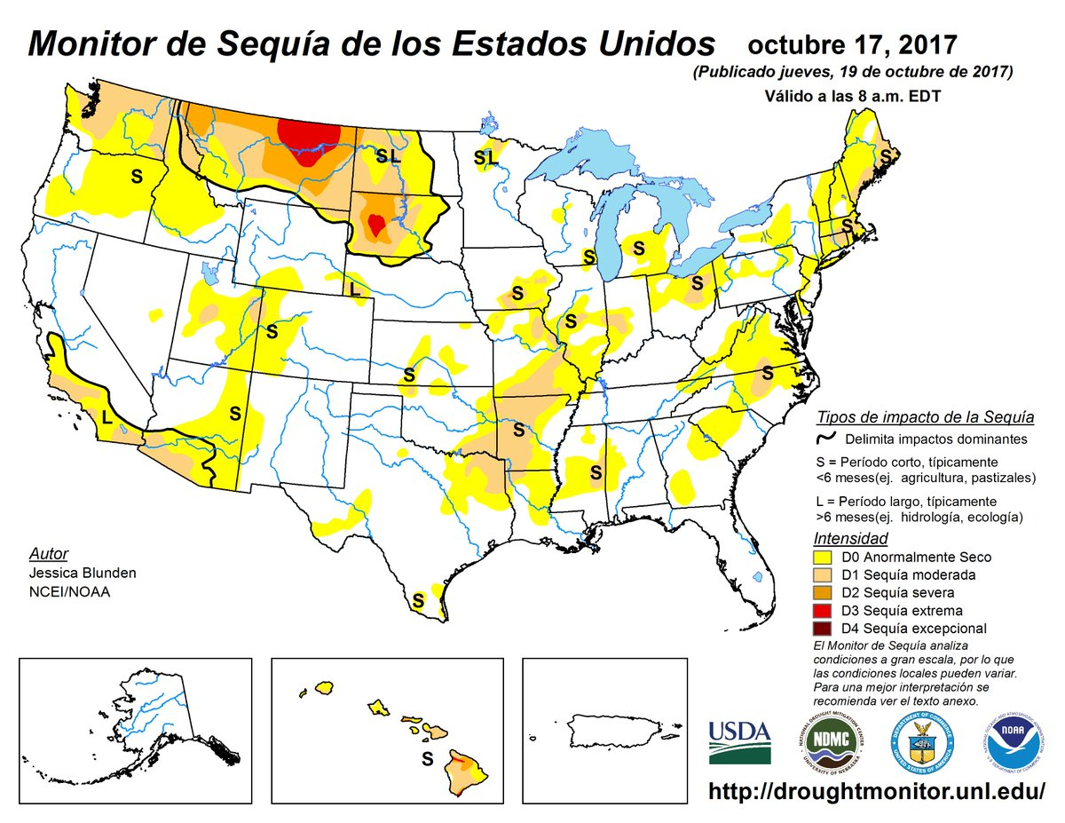 NIDIS DroughtGov Twitter - Us drought map 2016