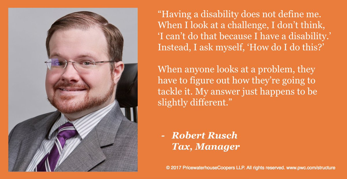 Our #DisabilityInclusion work is core to our purpose. Thanks to @rob_rusch for sharing his #Ability story:  http:// pwc.cm/P64ad  &nbsp;   #NDEAM<br>http://pic.twitter.com/F0sAtmu3n7