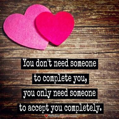 Find someone to accept you completely. #ThursdayThoughts  #quotes #InspirationalQuotes #ernest6words #sixwordstories<br>http://pic.twitter.com/yNvCO85PgA