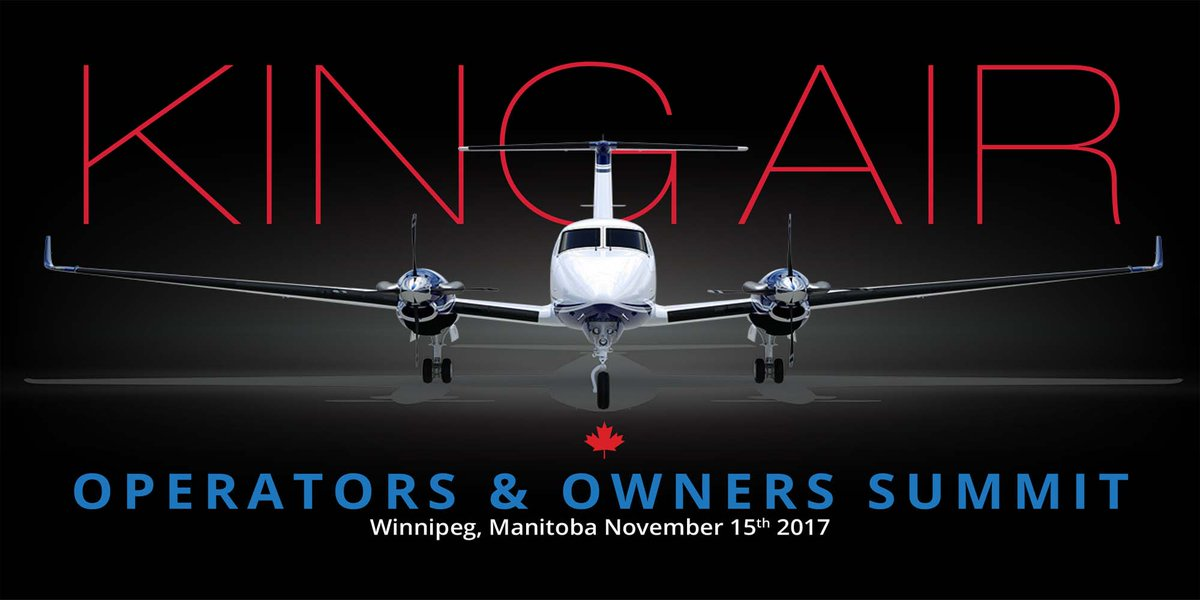 #KingAir Owners &amp; Operators! Register today  http:// bit.ly/2xQKtHJ  &nbsp;   for the 1st ever Canadian &quot;King Air Owner &amp; Operator Summit&quot; @MyFastAir.<br>http://pic.twitter.com/d3PimcHyXX