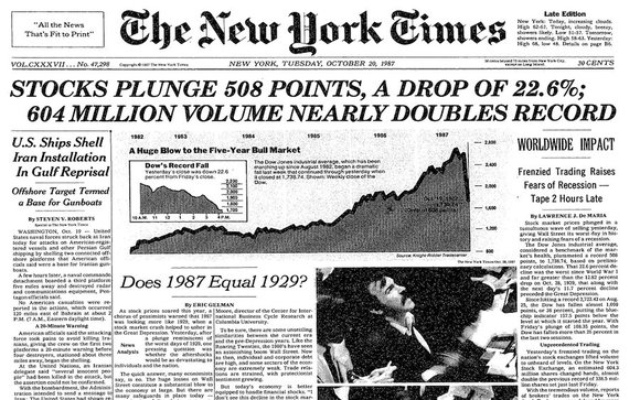 Thirty years ago today was the 1987 stock market crash known as '#BlackMonday.'  Is history about to repeat itself?  https://t.co/3YX5KrGCGi