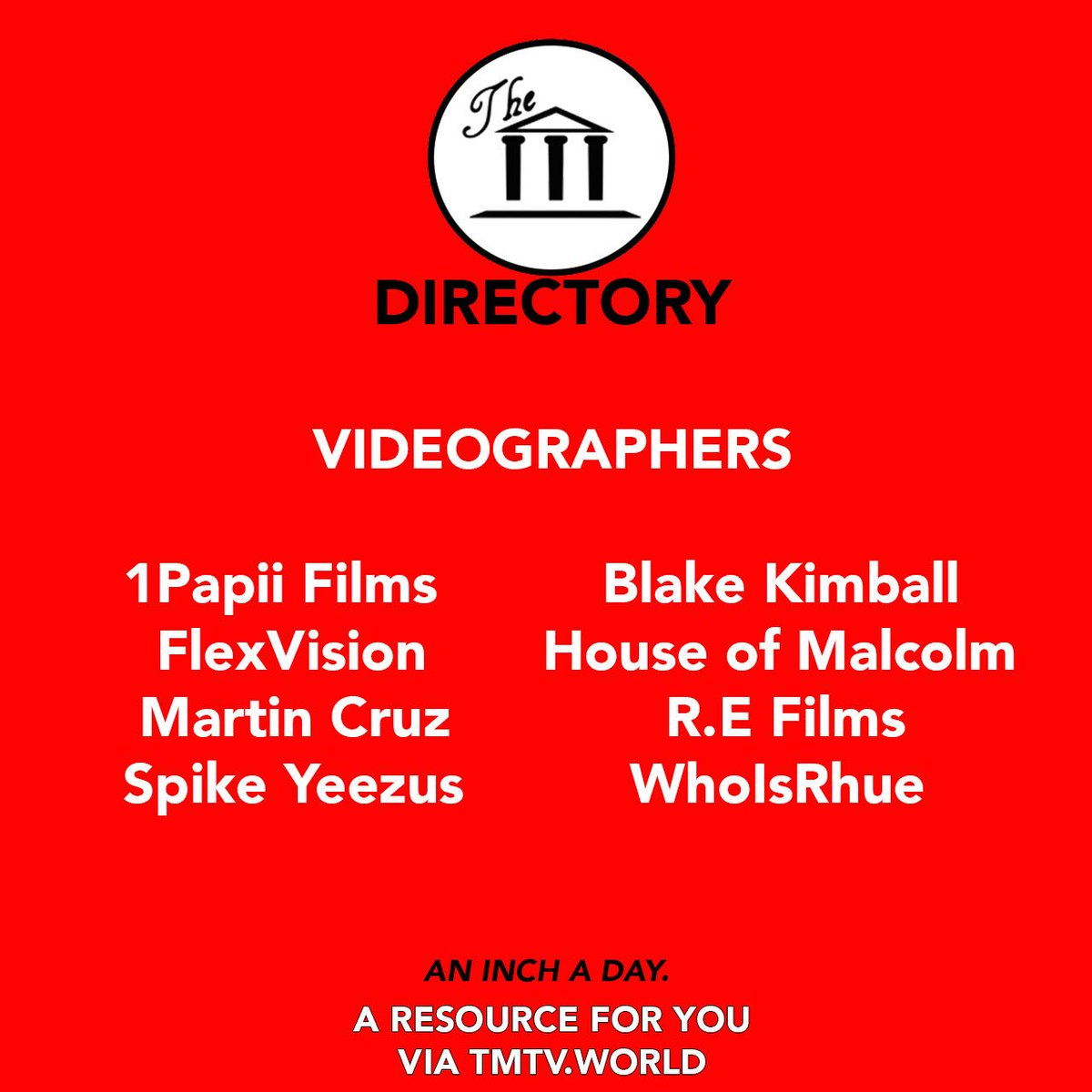 All of These Videographers via our #Directory &amp; You Still don't have Video for your Music, Brand or Business? #TMTV  http:// tmtv.world/the-directory/  &nbsp;  <br>http://pic.twitter.com/aagjbjRjQH