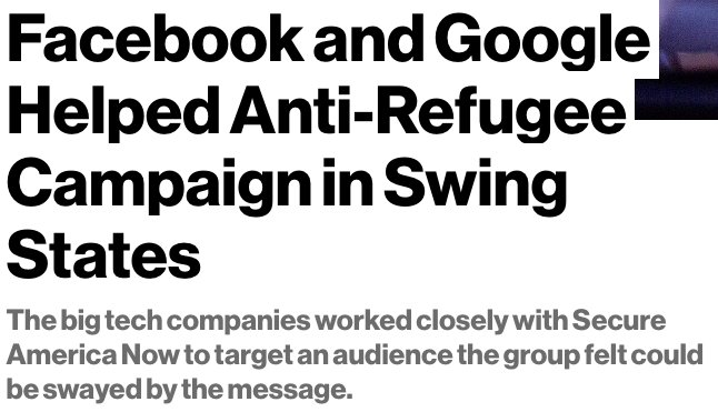 Facebook & Google can't keep pretending that they're just platforms without any editorial values https://t.co/2qW4qh7Iaf