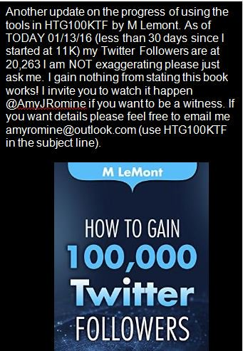 RT @AmyJRomine 'How to Gain 100K Twitter Followers Review Update & challenge to ask questions!'  THANK YOU, AMY  https://t.co/QZs9eFK5z9#SMM