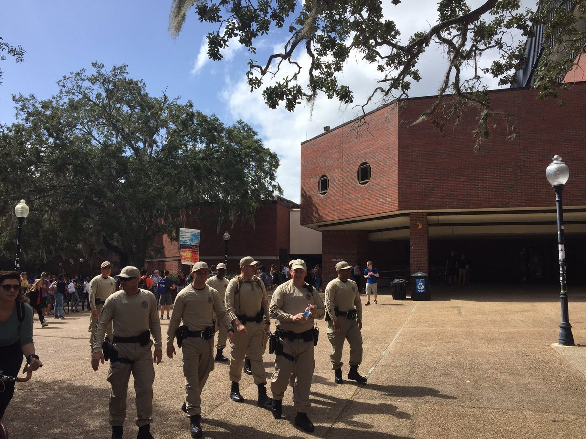 Rumors of 'armed Aryan brotherhood milita' at #SpencerAtUF turns out t...