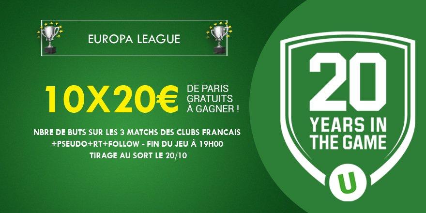 ⚽️💰 200€ à gagner grâce aux 3 clubs français engagés en #Europaleague...