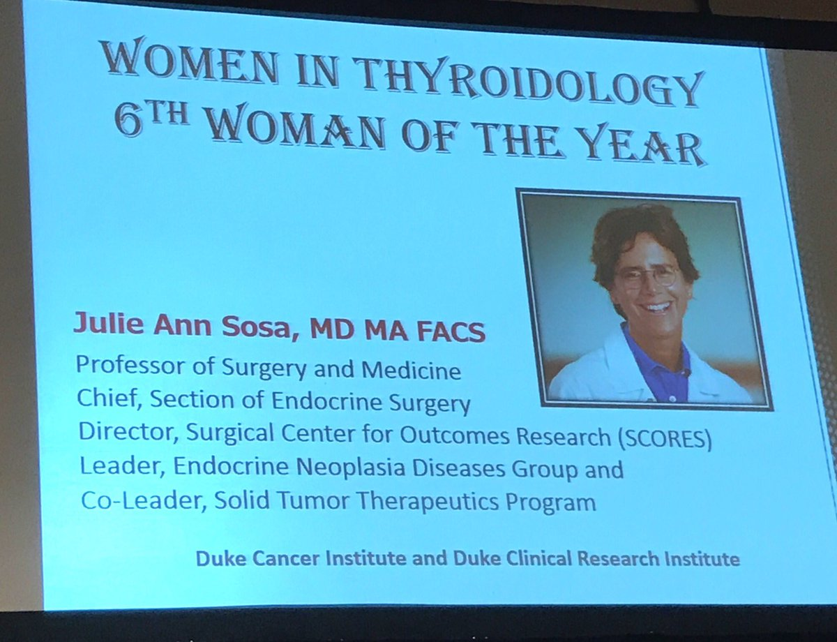 Congratulations @Jasosamd for selection as Woman of the Year at @AmThyroidAssn. Thank you for your dedicated #service! <br>http://pic.twitter.com/uGzn3wnrzx