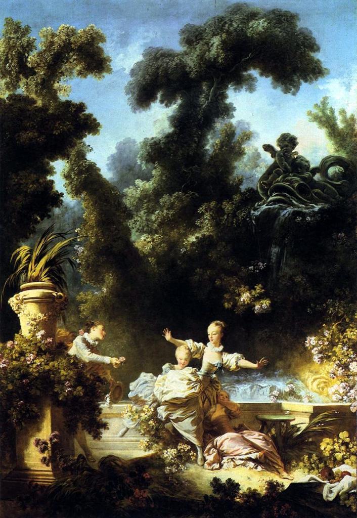 """Série """"fête galante"""" de la peinture rococo à l\"""