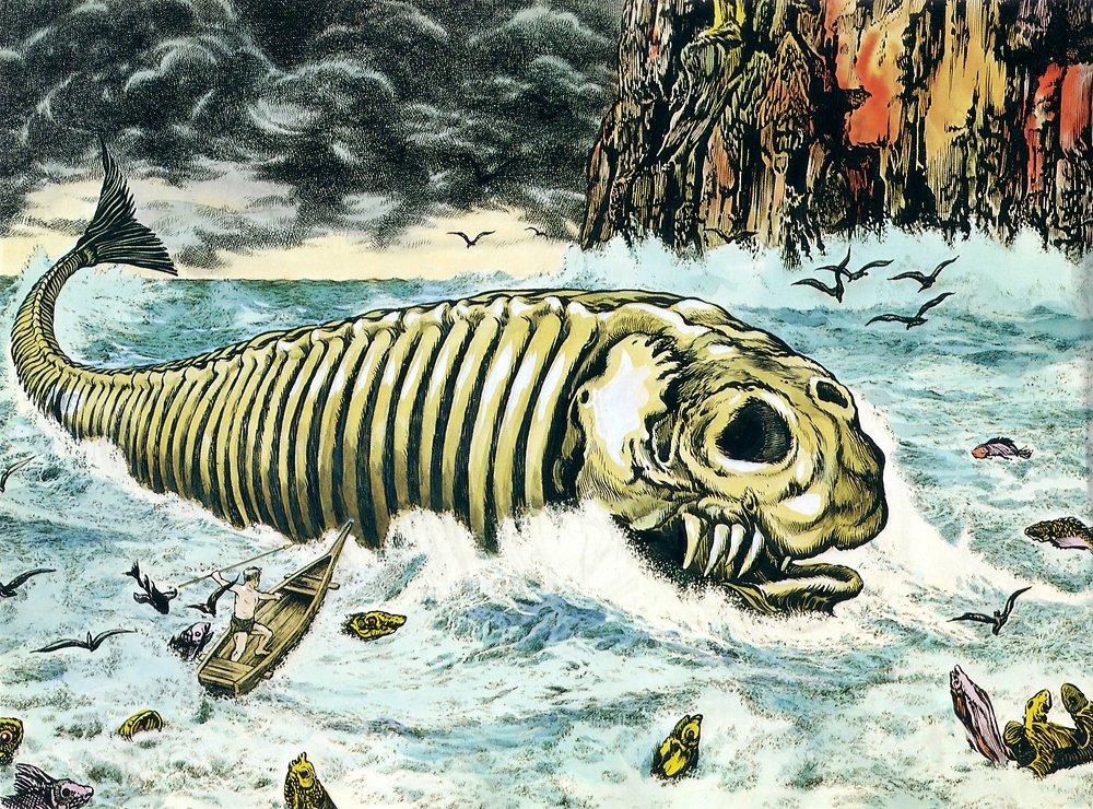 Bí ẩn lời nguyền đáng sợ của quái vật biển Bakekujira: Kẻ khổng lồ trở về từ cõi chết - Ảnh 2.