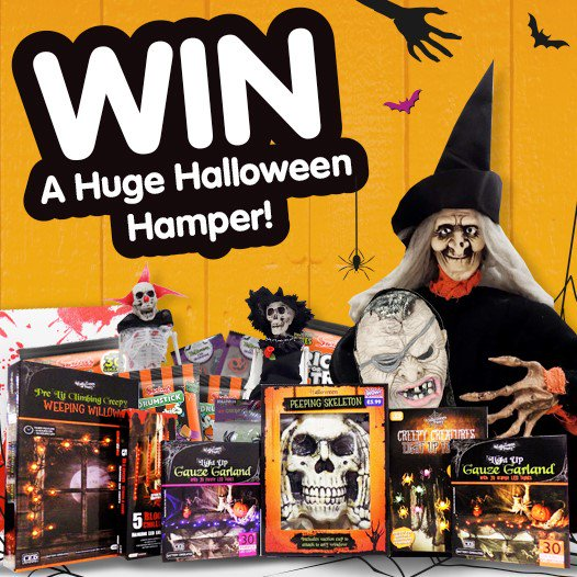 #COMPETITION FLW/RT &amp; COMMENT for ANOTHER chance to #WIN a HUGE #Halloween Hamper! Ends 8am 23.10.17. Q: Do you prefer Halloween or Bonfire Night? <br>http://pic.twitter.com/UnPOGc3Km6