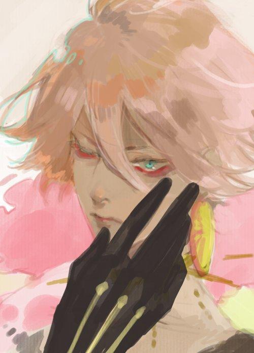 この前歌舞伎見たときにこれがFGOのカルナさんだよって友達に見せたら第一声が「目の下赤いね」だったのを思いながら描いてた(長い~