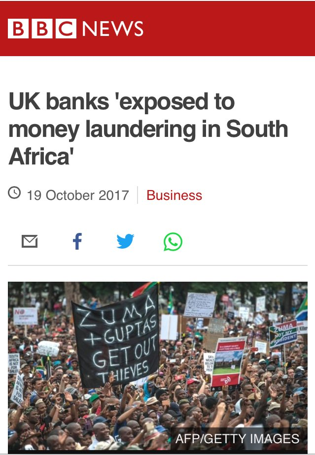 """Notice how the #BBC talk about money laundering """"exposure"""", """"through"""" UK banks. Not """"by"""" #HSBC &amp; Standard Chartered?  https://www. bbc.com/news/amp/busin ess-41672793 &nbsp; … <br>http://pic.twitter.com/GzOfzUIUrn"""