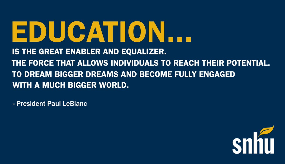 We asked @snhuprez why he believes #education is important.   #ThursdayThoughts #HigherEd <br>http://pic.twitter.com/08EuK4gpvr