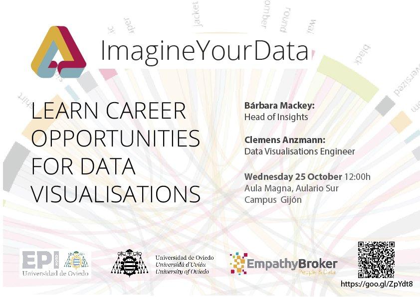 #conference 25 October in @epigijon @imagineyourdata Learn Career Opportunities for Data Visualisations  http://www. epigijon.uniovi.es / &nbsp;   #DataViz<br>http://pic.twitter.com/WjtFejI76n