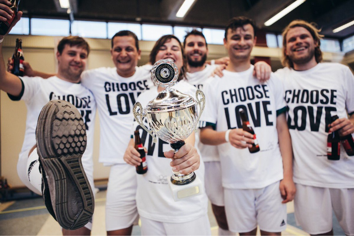 Congratulations to @rushhourmusic winners of the #RACup17 @HelpRefugeesUK #ChooseLove