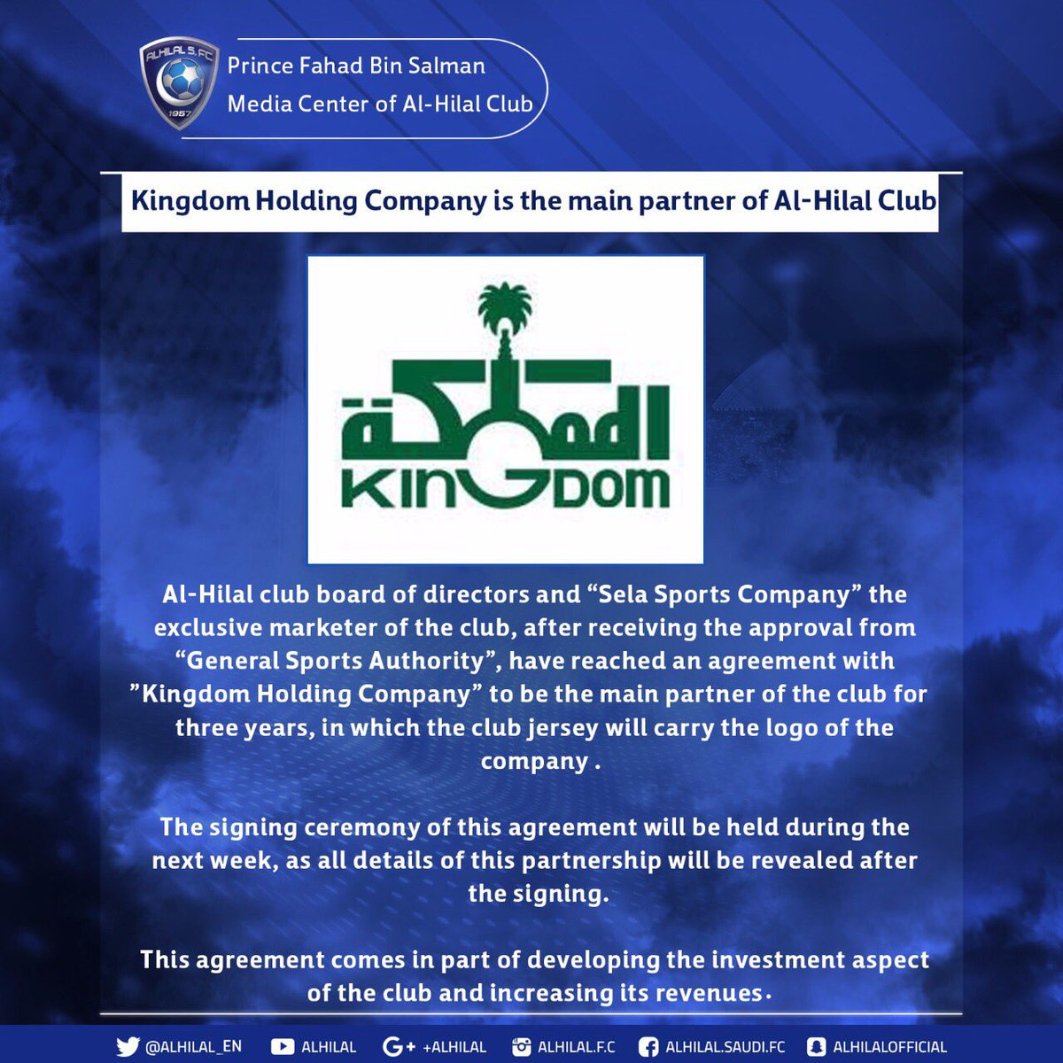 Kingdom Holding Company is the main part...