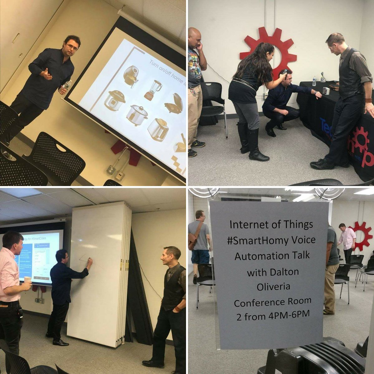 #IoT Speaking Session about my #smartyWiot for #SmartHome #SmartCities #SmartBuilding projects @ TechShop - Washington, DC<br>http://pic.twitter.com/Ko3w4xjEsM