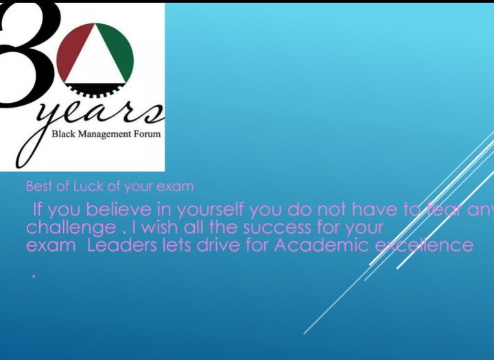 Wish all the best with your exams. Stay blessed #Academic #Exallence @thando_greatest @djkhahli @BMFscNational @BMFNational<br>http://pic.twitter.com/IKJ8lxyTBW