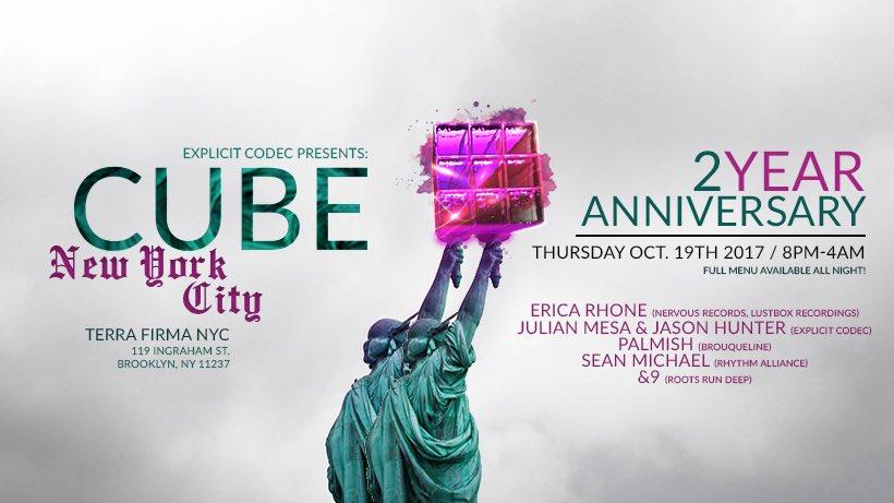 Join us TONIGHT!  #ExplicitCodec #CUBE #Brooklyn #BK #TerraFirmaBK #NY #2Year #Party #Music #NYCNightlife #DJ #Tech #Techno #Deep #House <br>http://pic.twitter.com/bRuv9HgMF4 &ndash; à Terra Firma