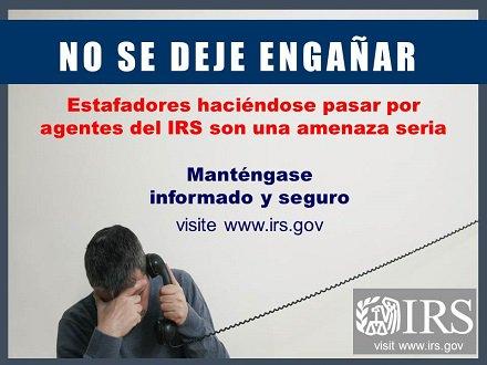 #IRS emite recordatorio de alerta ante e...