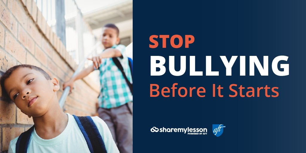 It&#39;s #bullyingpreventionmonth. Help stop #bullying at your school using these resources from @sharemylesson    http:// bit.ly/2wRWeSI  &nbsp;  <br>http://pic.twitter.com/blsD1OEfJA