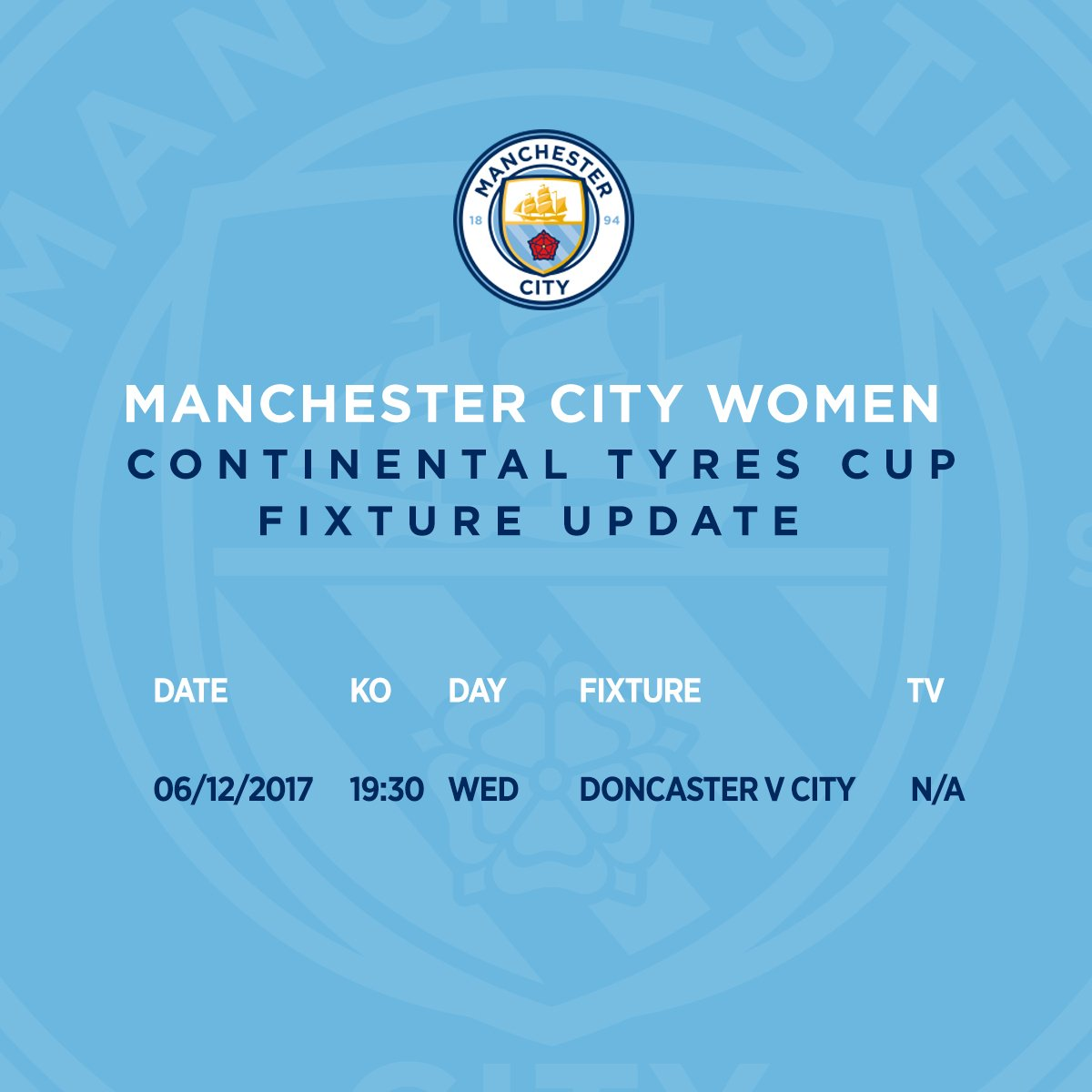 FIXTURE UPDATE  #mancity <br>http://pic.twitter.com/ygIfHtBqy9