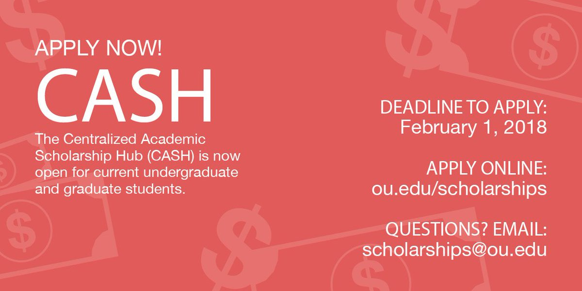 Ou Daily Promos On Twitter Ad Want Scholarships Current Ou