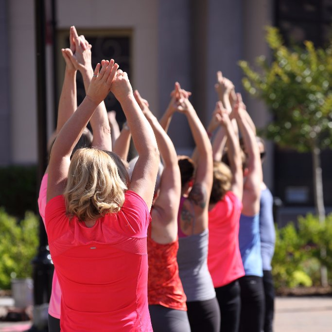 Bring your energy this Saturday to Soul Yoga with @SerenitySpa916. Class starts at 9:00am on the piazza. #FreeYoga #Folsom <br>http://pic.twitter.com/5MJSAxT70c