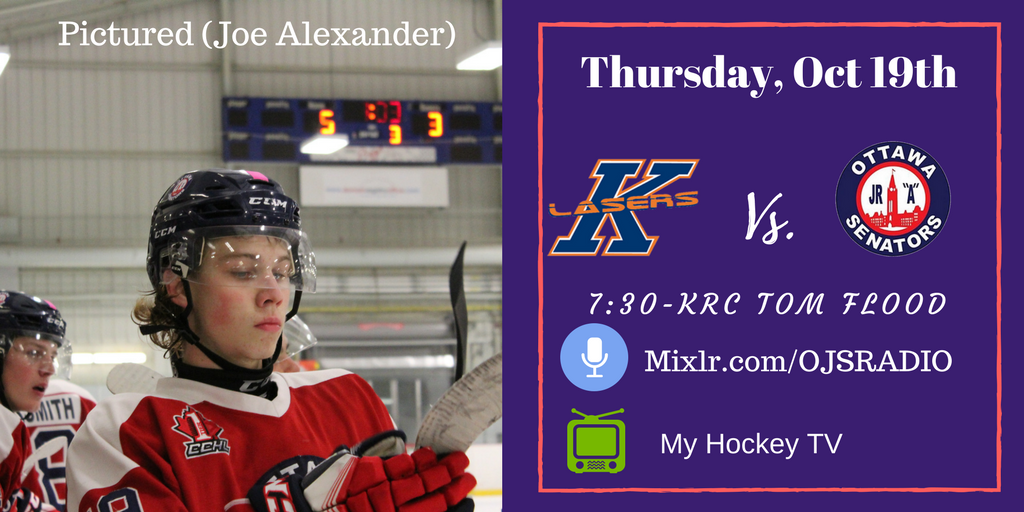 GAME DAY | #OJS travels to the @KanataLasers tonight! #CCHL   KRC 7:30  http:// mixlr.com/ojsradio  &nbsp;    @MDetre95<br>http://pic.twitter.com/BwxUBK8eTh