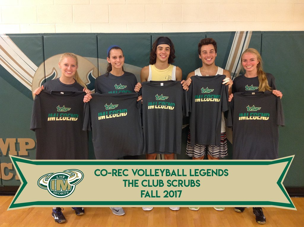 Usf Intramurals On Twitter Oh Yeah Its That Time Again Legend Spotlight Day Today Our Volleyball Legends F0 9f 8f 90 F0 9f 91 95 F0 9f 8f 86 Starting With Our Co Rec Winners