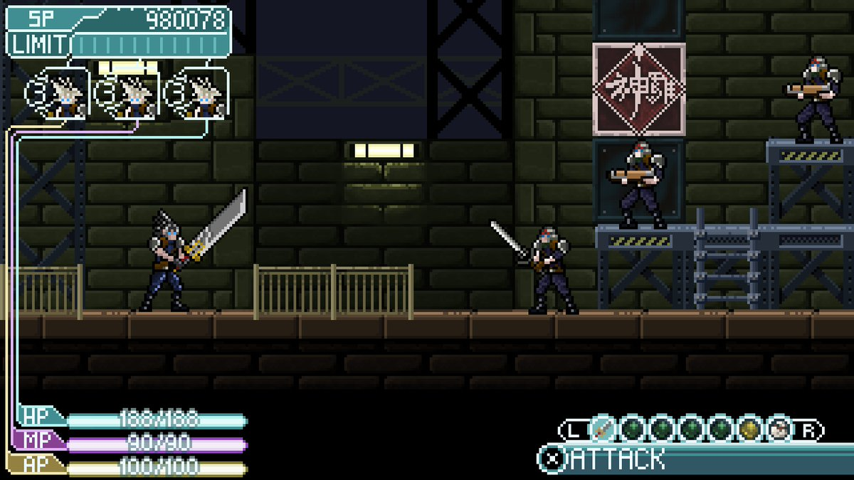 FF CrisisCore mockup for @Pixel_Dailies #pixel_dailies #art #pixelart #gamedesign  #FavouriteGame&quot;Boy oh boy, the price of freedom is steep&quot;<br>http://pic.twitter.com/6Wq0PfbOnA