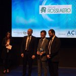 "We are glad to hand the ""Adaptability to Market"" award to Rossi Aero during #TA2017! Congratulations 🙌😃"
