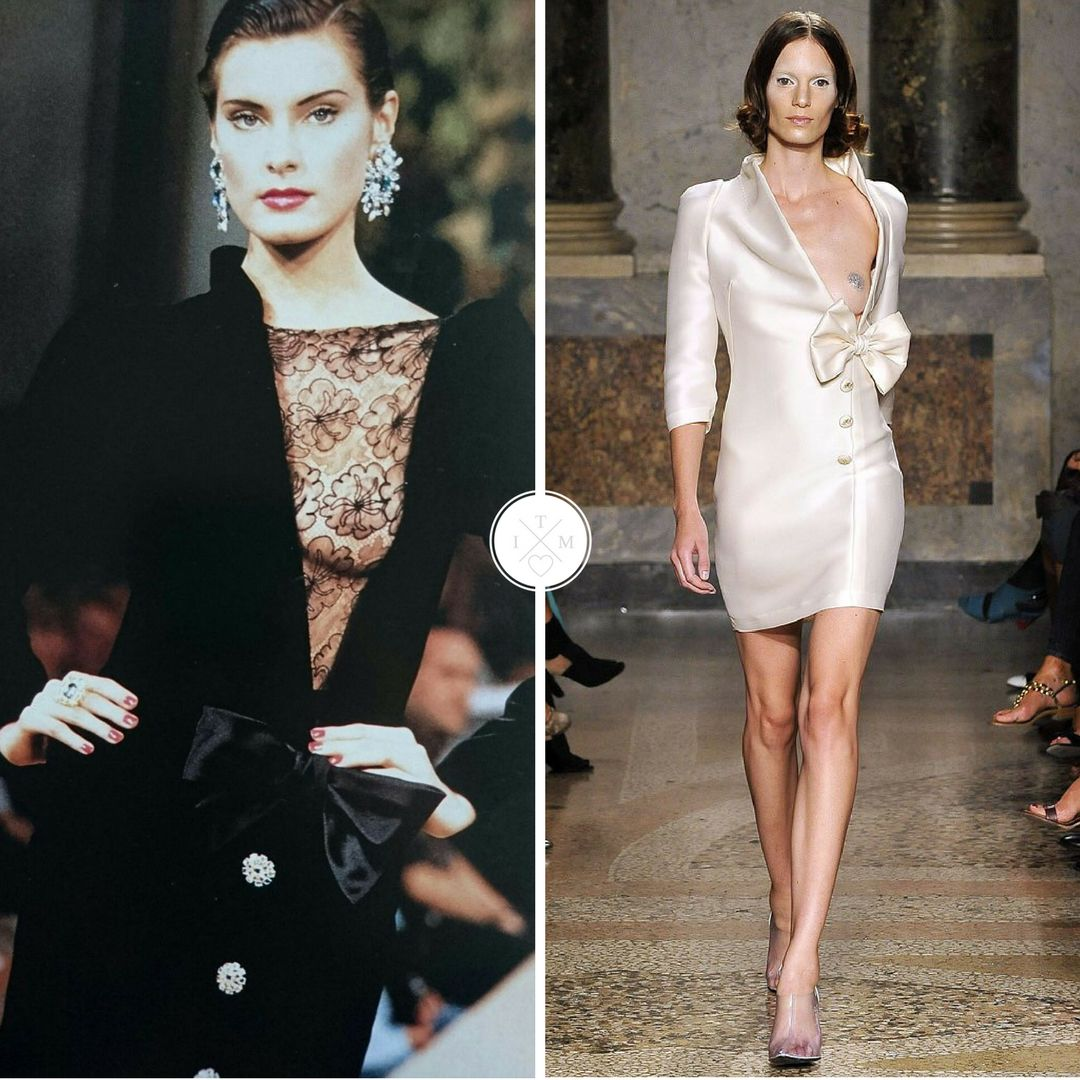 INSPIRATION: Yves Saint Laurent, 1977 Couture || Francesco Scognamiglio, Spring2009 #couture #fashion #fashionhistory #inspiration #lace<br>http://pic.twitter.com/RIoSWEZ4XO