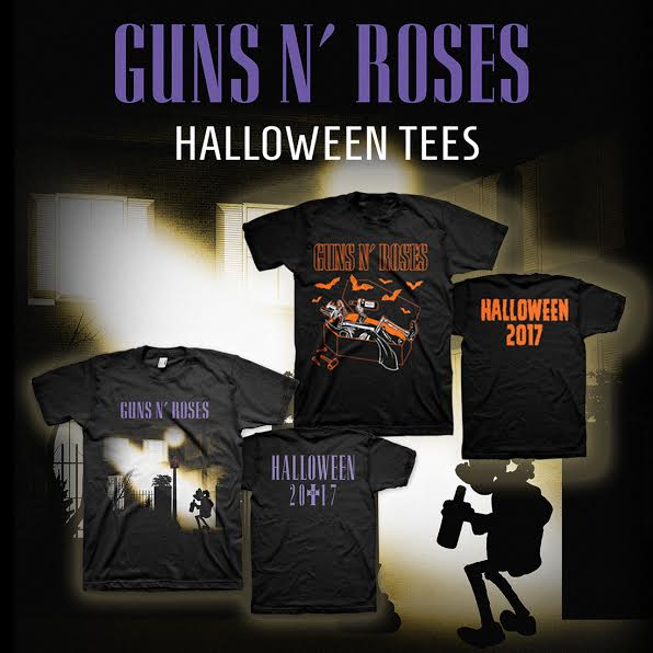 Guns N&#39; Roses #Halloween T-Shirts!  Now available only at the official #GnFnR store for a limited time...  http:// bit.ly/2xPg1hd  &nbsp;  <br>http://pic.twitter.com/a6HtVy5Btd