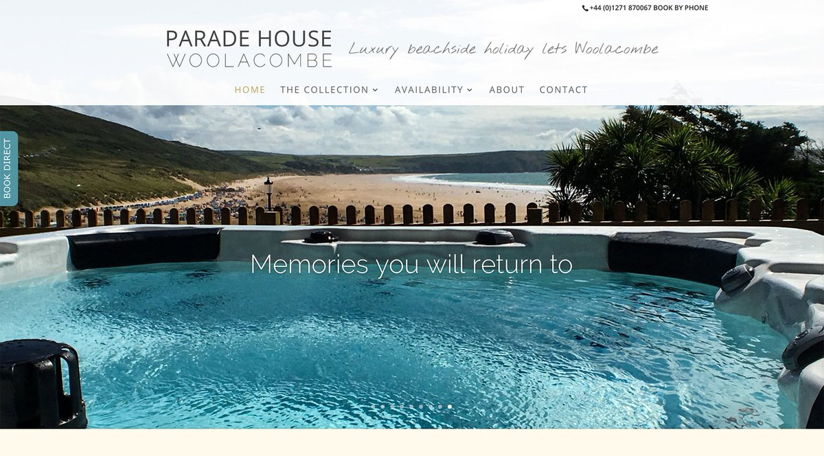 One of our recent websites Parade House Woolacombe  http://www. paradehousewoolacombe.co.uk / &nbsp;   more here  https://www. createdinbath.com/recent-projects  &nbsp;   - beautiful #business #websites <br>http://pic.twitter.com/A5xf93oPgW