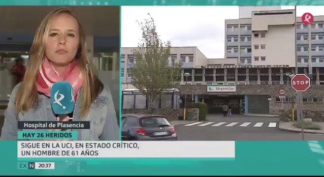 Uno de los heridos por el accidente de #Galisteo sigue en estado muy grave. Hacemos balance de heridos desde Plasencia con @noeliaperez83. https://t.co/VZKjiDHTdR