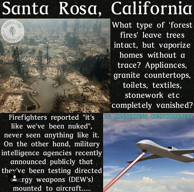 #CaliforniaWildfires Caused By Lasers/Microwaves &amp; Particle Beams? #SciFi The New Reality? #IoT #Security #infosec  https:// youtu.be/MhHOMU-IhHA  &nbsp;  <br>http://pic.twitter.com/vYGYFCeJqn