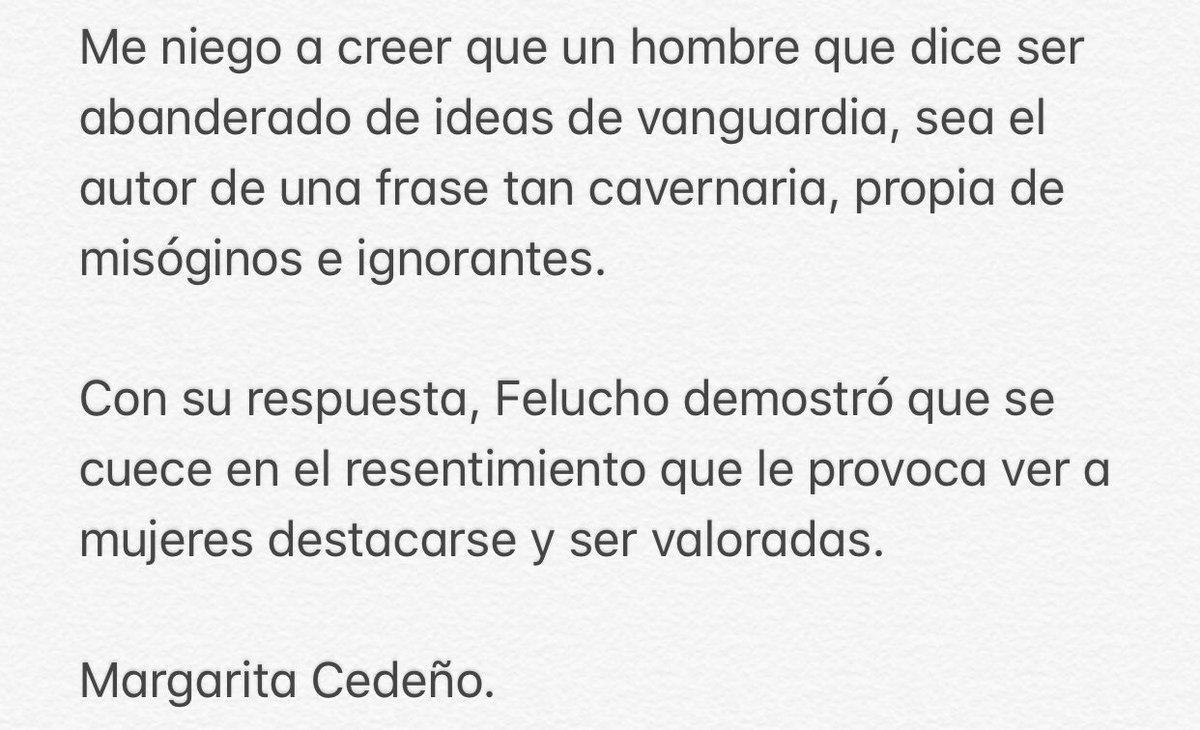 Sobre las lamentables declaraciones de #FeluchoJiménez: https://t.co/LN9uNvAJ0x