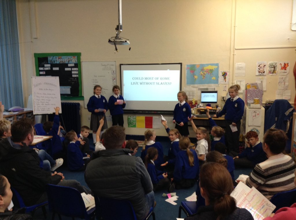 Parent open afternoon in year 5. Children loved showing off their presentation skills. #EPS @NWATrust