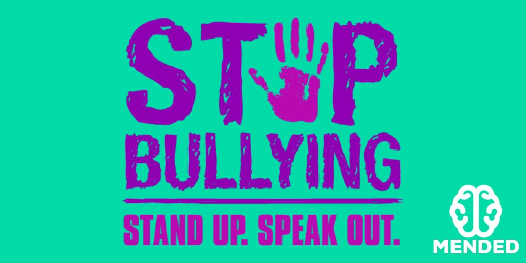 BULLYING IS WRONG.   RT and spread awareness.    #SpiritDay #Mended #Bullying <br>http://pic.twitter.com/W0FOVsNYOF