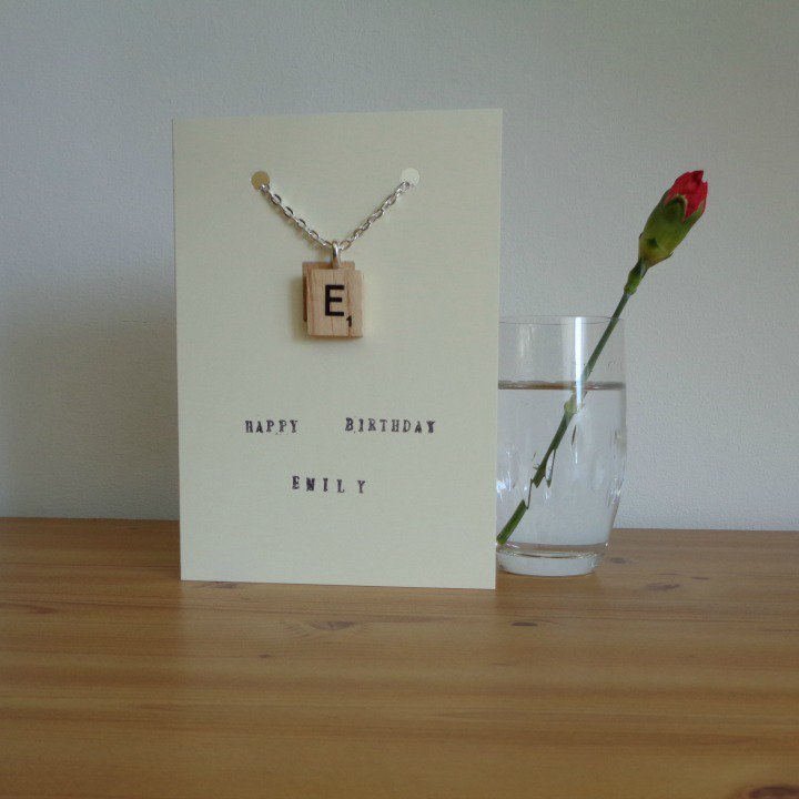 #personalised card with detachable initial pendant makes lovely gift  http://www. etsy.com/uk/listing/273 725610/personalised-birthday-card-with &nbsp; …  #mnukteam #justacard #onlinecraft #craftbuzz<br>http://pic.twitter.com/HAGvNewKLs