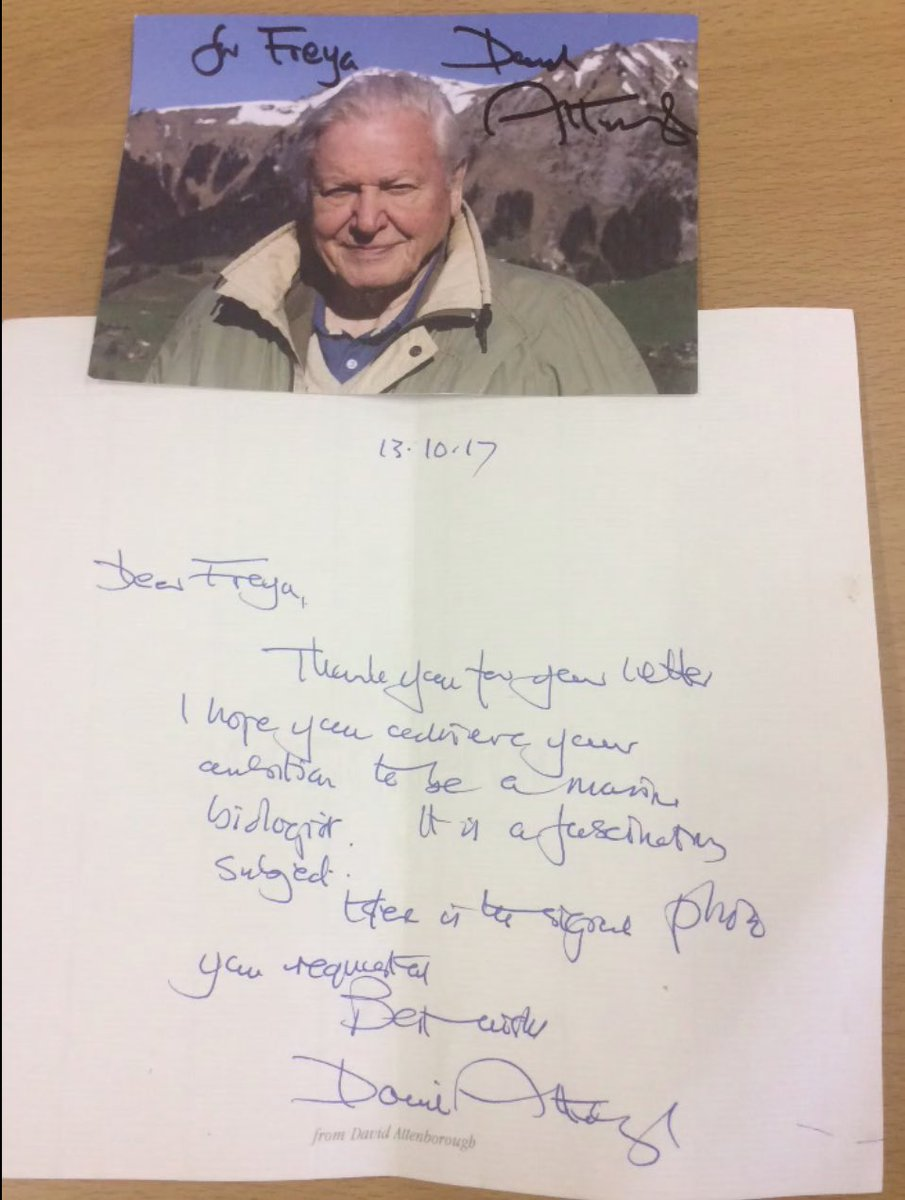 Look who responded to one of our year 4 pupils, aspiring to be a marine biologist. You&#39;ve taught us so much David Attenborough #Aspire <br>http://pic.twitter.com/xa9KEuoRtV